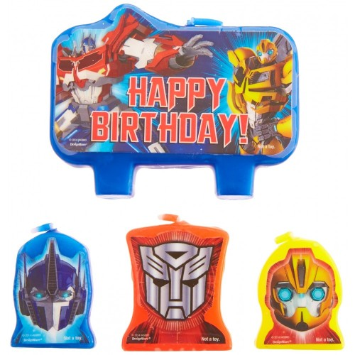 Transformer 2014 Molded Candle Set 4 Pieces by Amscan