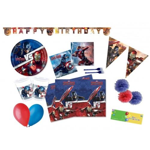 Kit 16 persone Capitan America - Avengers