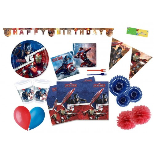 Kit 24 persone Capitan America -  Avengers Civil War
