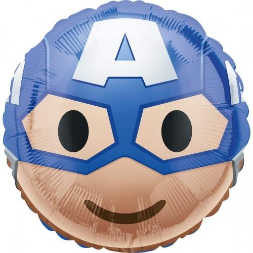 Pallone Foil Capitan America Emoji