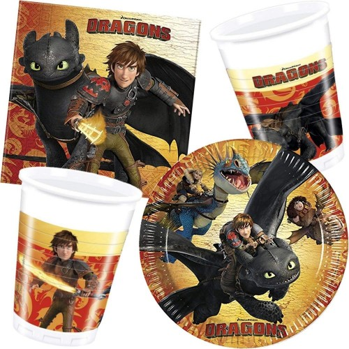 Kit 16 persone Dragons, Dragon Trainer, per feste e party