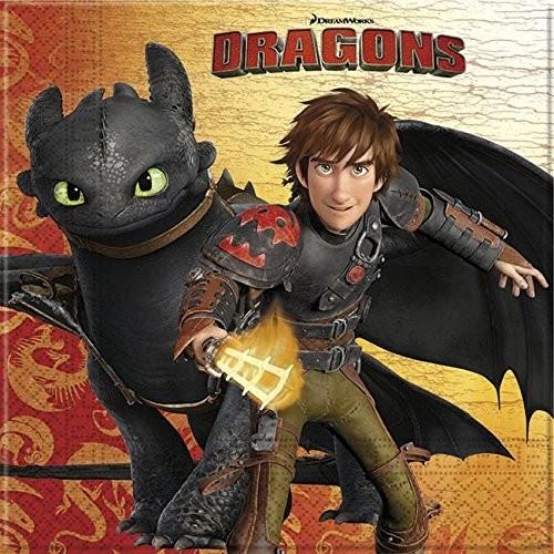 Tovaglioli Dragons 20 Pezzi