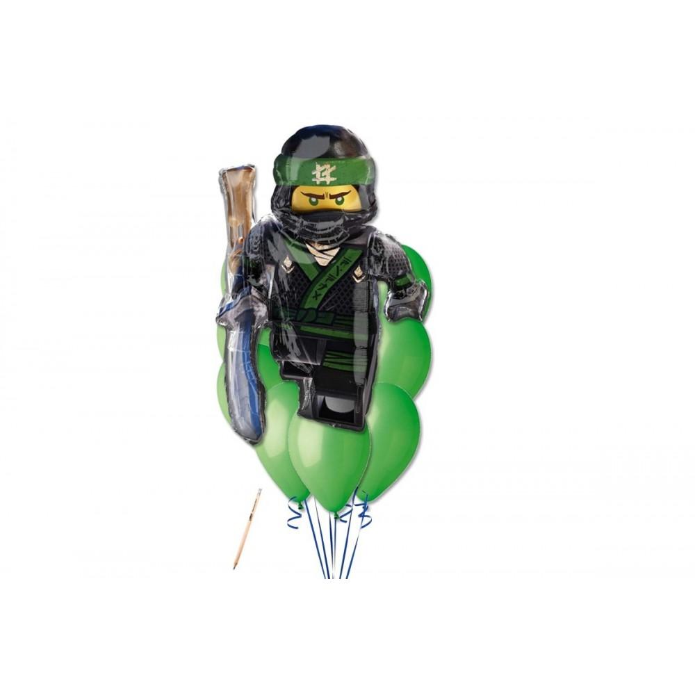 Composizione palloncini Lego Ninja, con supershape