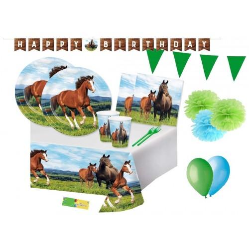 Kit 16 persone tema Cavalli con festone