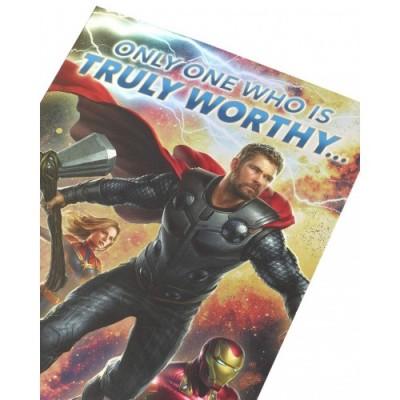 Biglietto di auguri di compleanno degli Avengers, ideale come regalo per lui, Avengers Endgame - Avengers con Iron Man, Thor,