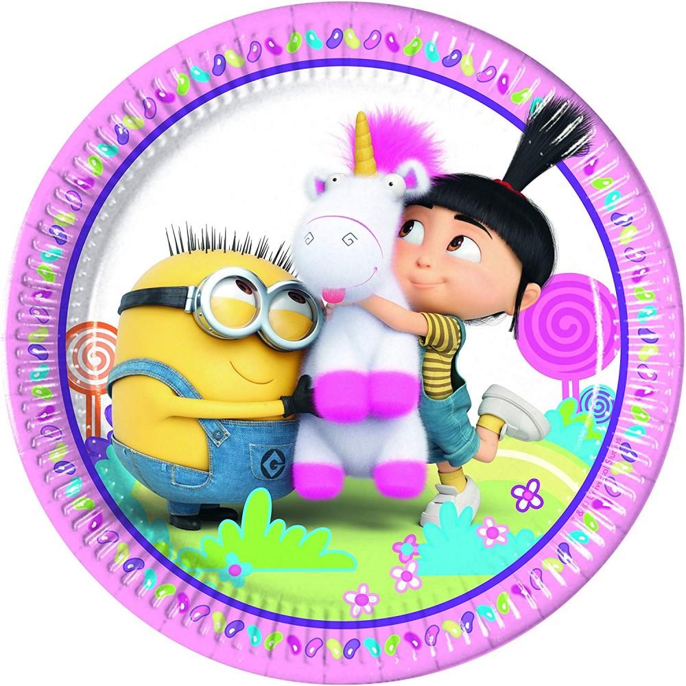 Piatti compleanno Agnes e Fluffy
