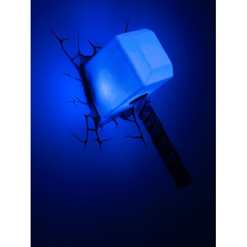 3D Light Fx Lampada LED 3D Philips-Martello di Thor-Marvel, Multicolore, 10 x 15 x 26 cm