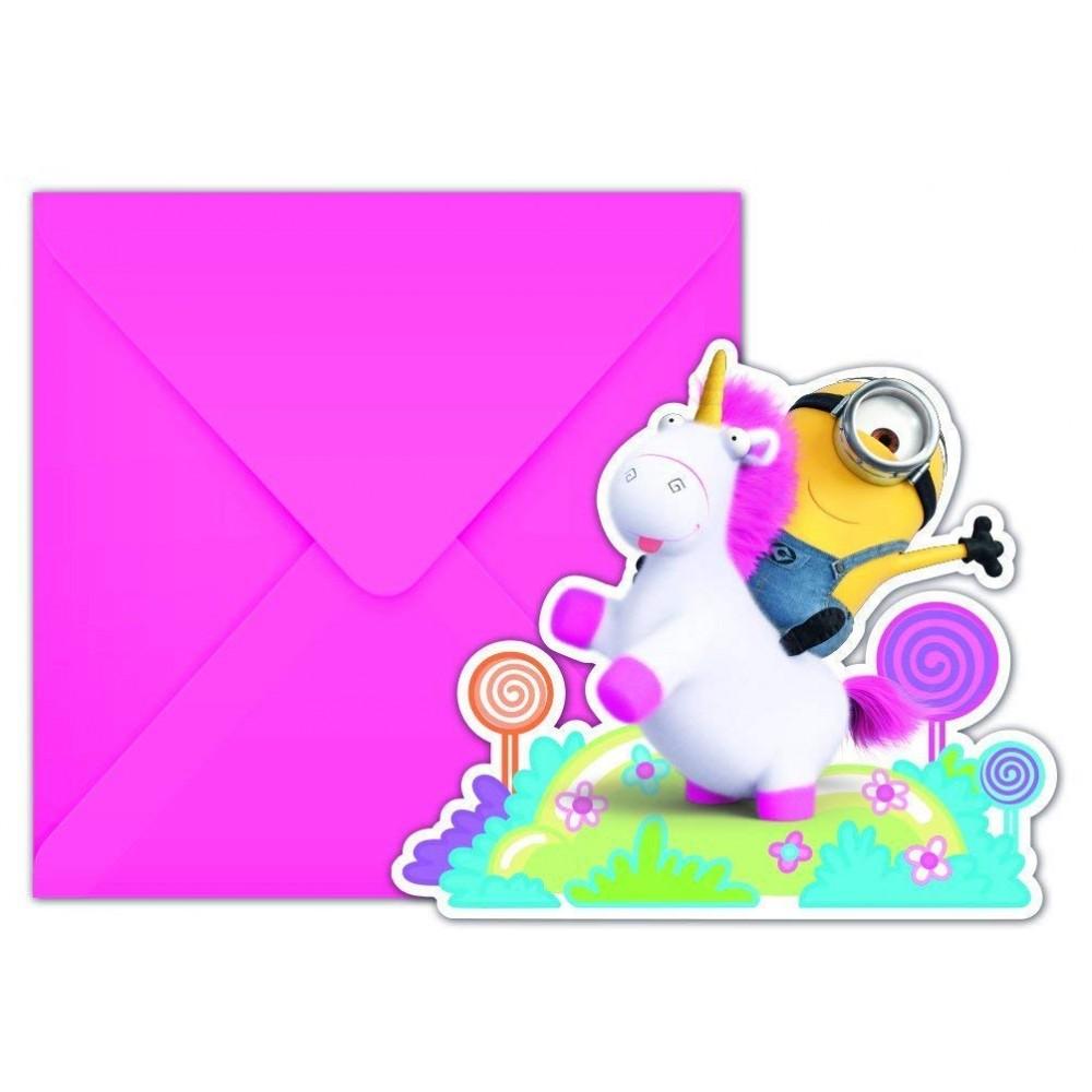 Inviti compleanno Agnes e Fluffy