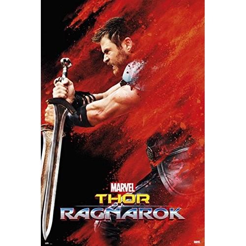 Grupo Erik GPE5218 Poster Thor Ragnarok Thor Red Dust, carta, Multicolore,  91 x 61,5 x 0,1 cm