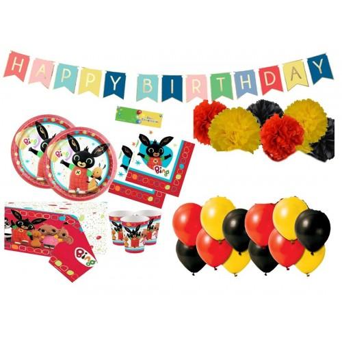 Kit compleanno Bing con ghirlanda