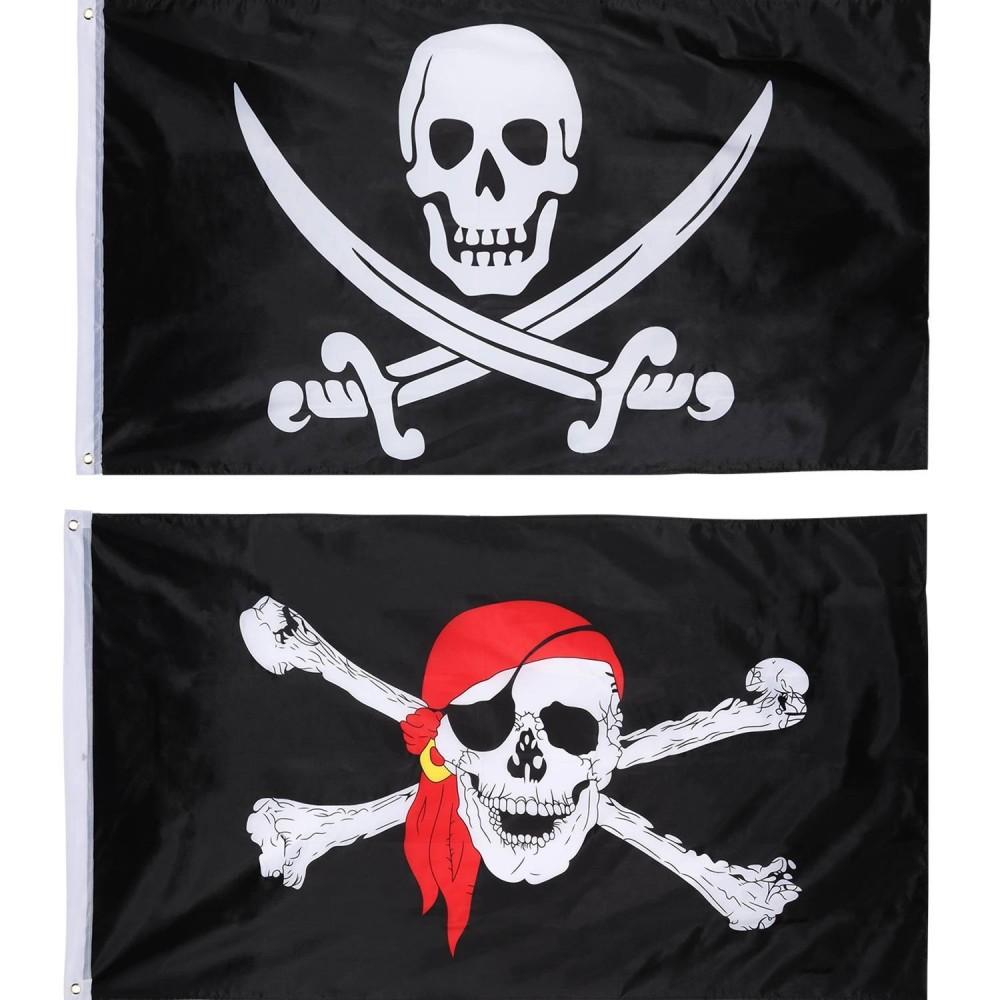 Immagini Di Teschio Pirati bandiera pirati con teschio per feste, 2 pz