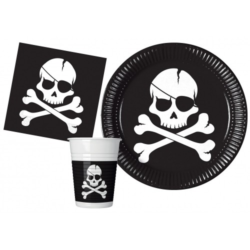 Kit 24 persone Pirati Black Skull