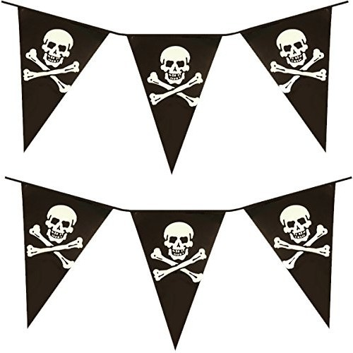 Bandierine Pirati Black Skull
