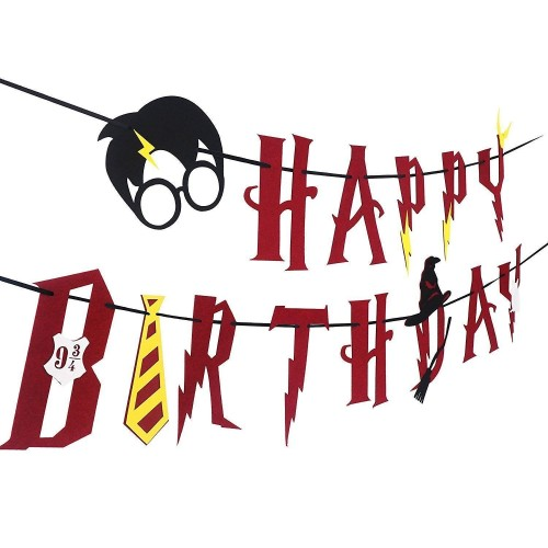 Ghirlanda Harry Potter in cartoncino, per feste e party
