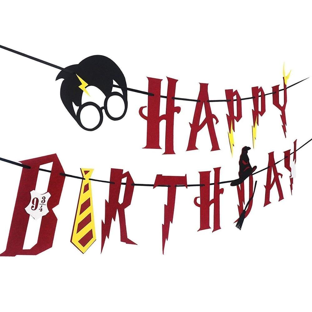 Ghirlanda Harry Potter in cartoncino, per feste e party