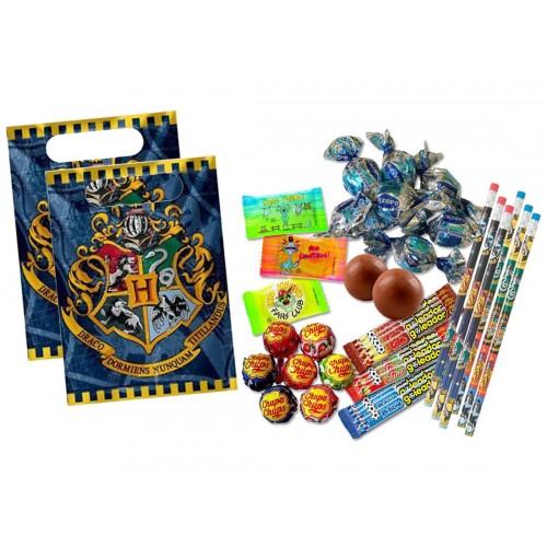 Regalini fine festa Harry Potter con caramelle e bustine