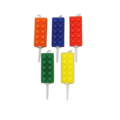 5 candele Lego