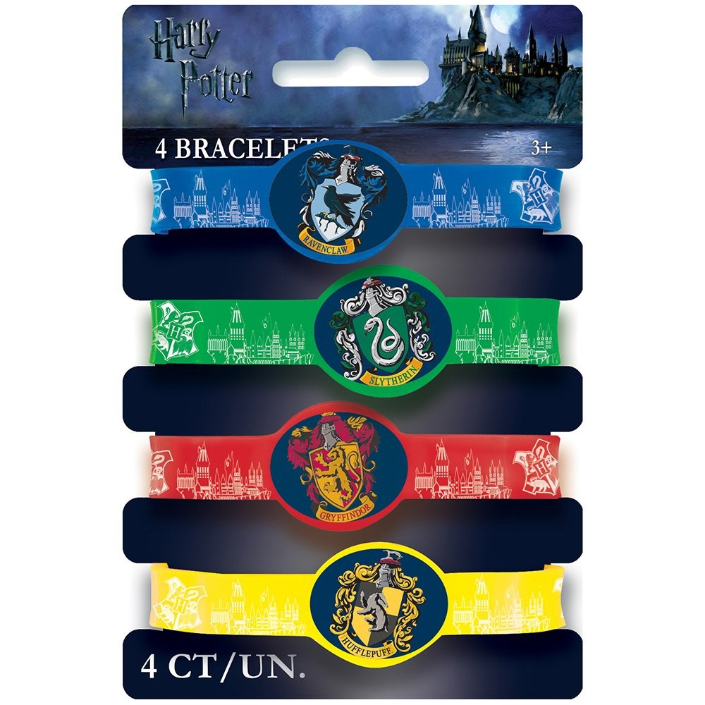 Braccialetti Harry Potter, 4 pz, in plastica, taglia unica