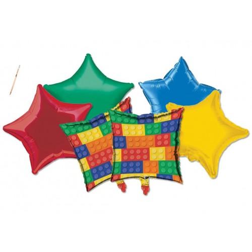 Set palloncini Lego - Block Party, composizione per feste