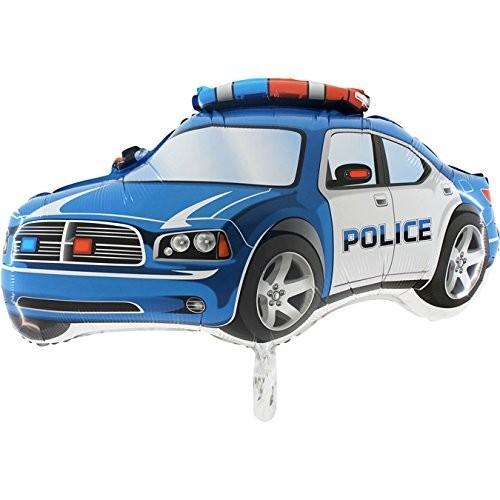 Palloncino Foil Supershape auto Blu Polizia