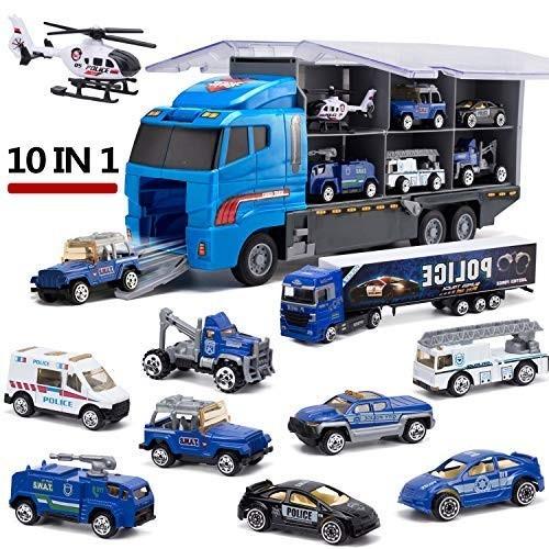 Giocattoli - Camion trasportatore Polizia