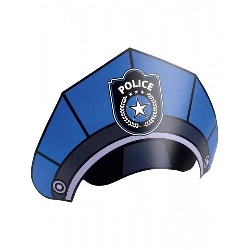 8 cappellini Polizia in cartoncino