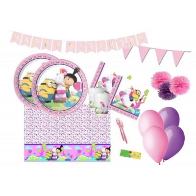 Kit compleanno Agnes e Fluffy per 16 persone