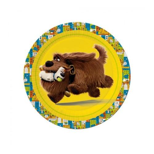Piatti Pets Vita da Animali, confezione da 8 pz, per feste