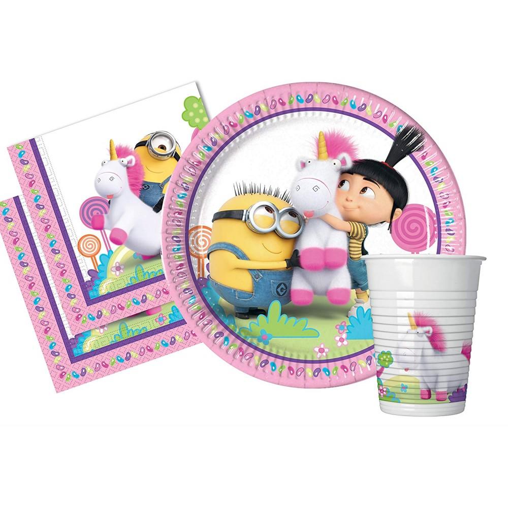 Kit compleanno Agnes e Fluffy per 8 persone