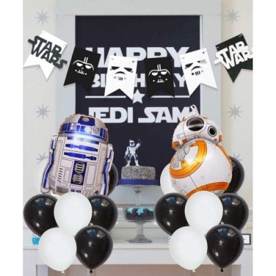JOYMEMO Star Wars Party Supplies Decorazioni, Star War Bunting Banner, Star War Foil Balloons Cake Toppers per Il Compleanno
