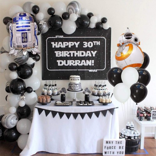 Set decorazioni Star Wars, palloncini, ghirlanda e topper per dolci
