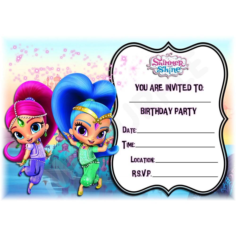 Inviti compleanno Shimmer e Shine