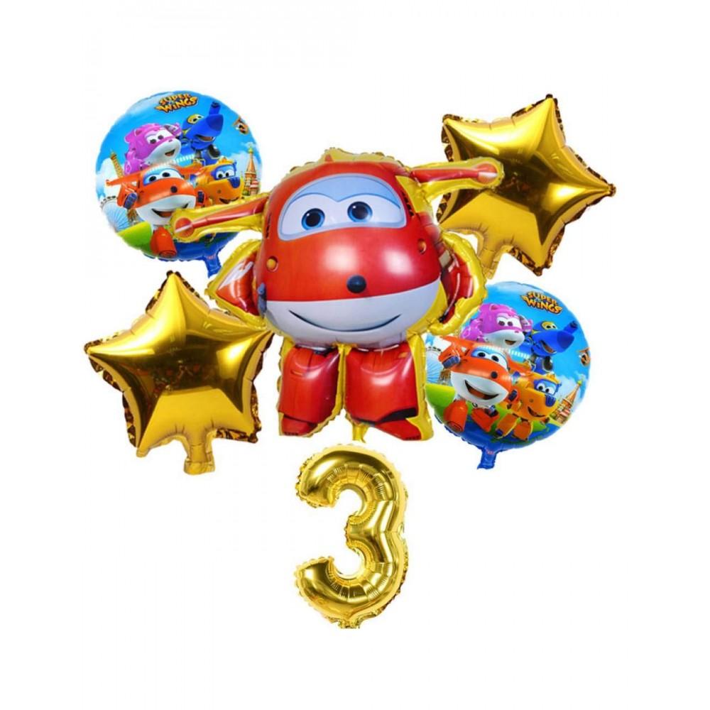 Bouquet Super Wings - palloncini per feste