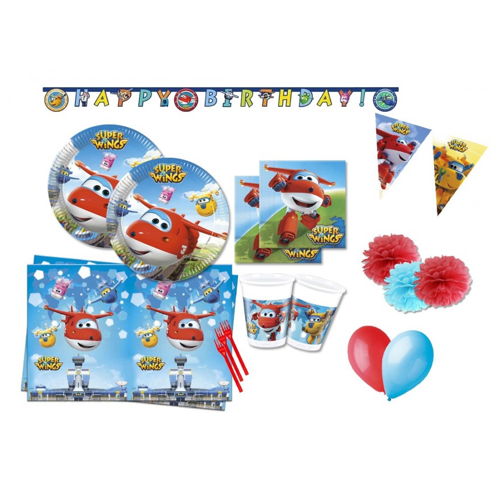 Kit 16 persone Super Wings, coordinato per feste