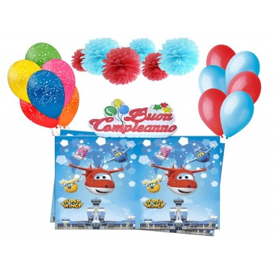 Kit compleanno Super Wings, decorazioni originali