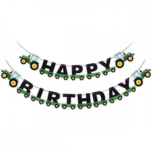Ghirlanda trattore - Happy Birthday