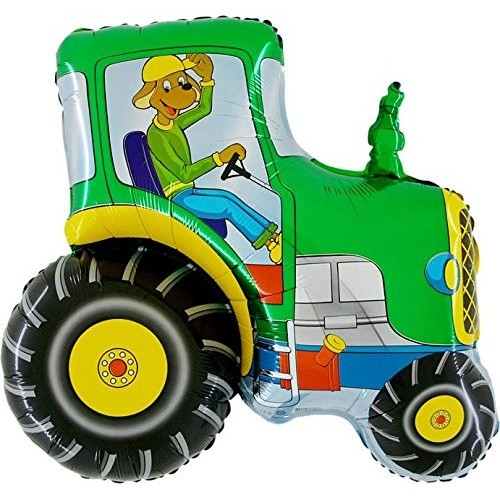 Palloncino trattore verde