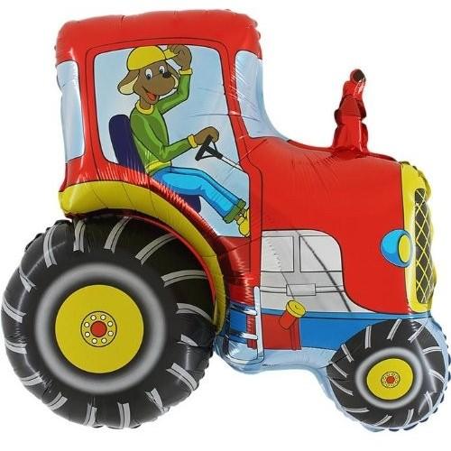Pallone trattore rosso