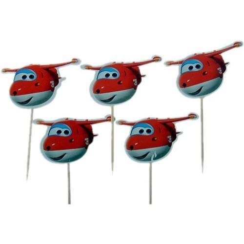 Stuzzicandenti Super Wings, 10 pz, con decorazioni