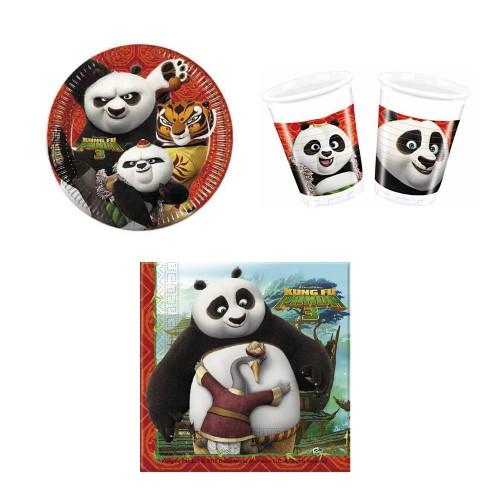 Kit per 8 persone Kung Fu Panda