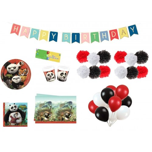 Kit compleanno 8 persone Kung Fu Panda 3