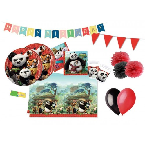 Set compleanno 32 invitati Kung Fu Panda 3