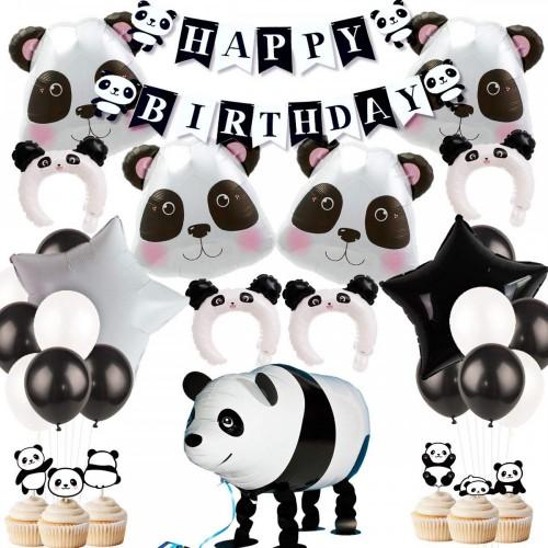 Set decorazioni Panda per feste di compleanno
