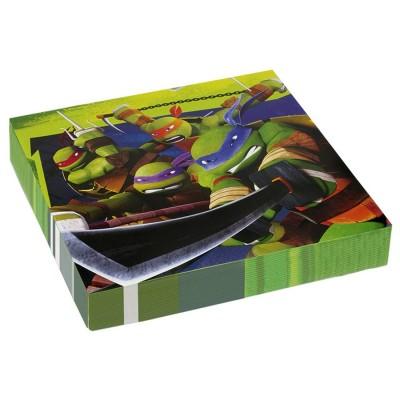 Tovaglioli Tartarughe Ninja, 33x33 cm, in carta resistente