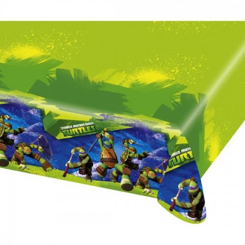 Tovaglia Tartarughe Ninja - 120 x 180 cm in PVC per feste