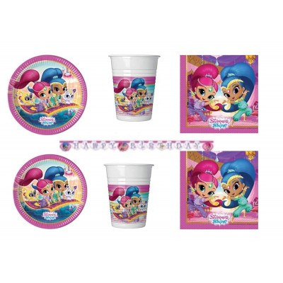 kit compleanno 24 persone shimmer e shine