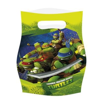 Bustine Ninja Turtles, sacchettini in plastica per feste