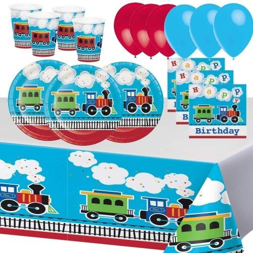 Generico Feste Compleanno Treni Tutti a Bordo Locomotiva Veicolo Partito Bambino Ragazzo Decorazione Tavolo Stoviglie Tovagli