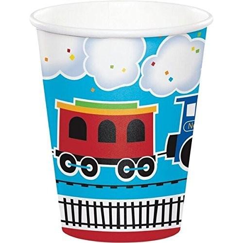 Bicchieri di carta tema trenino - locomotiva