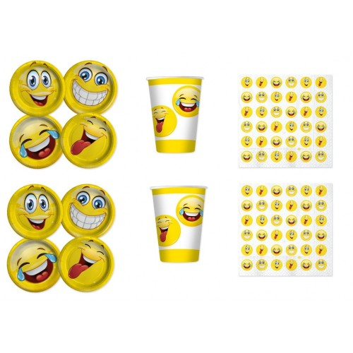 Kit compleanno per 24 persone Emoticons